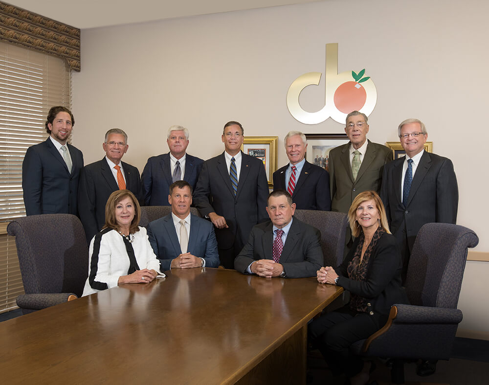 (Back Row) Wesley Barnett, Theron Stangry, Mark Schreiber, Greg Littleton, Howard Wiggs, David Touchton (Secretary), Weymon Snuggs<br> (Front Row) Jinx Wilson, Clay Wilson, Latimer Wilson (Chairman), Cindy Henry<br>
