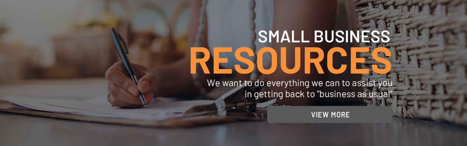Small Business Resources Slider