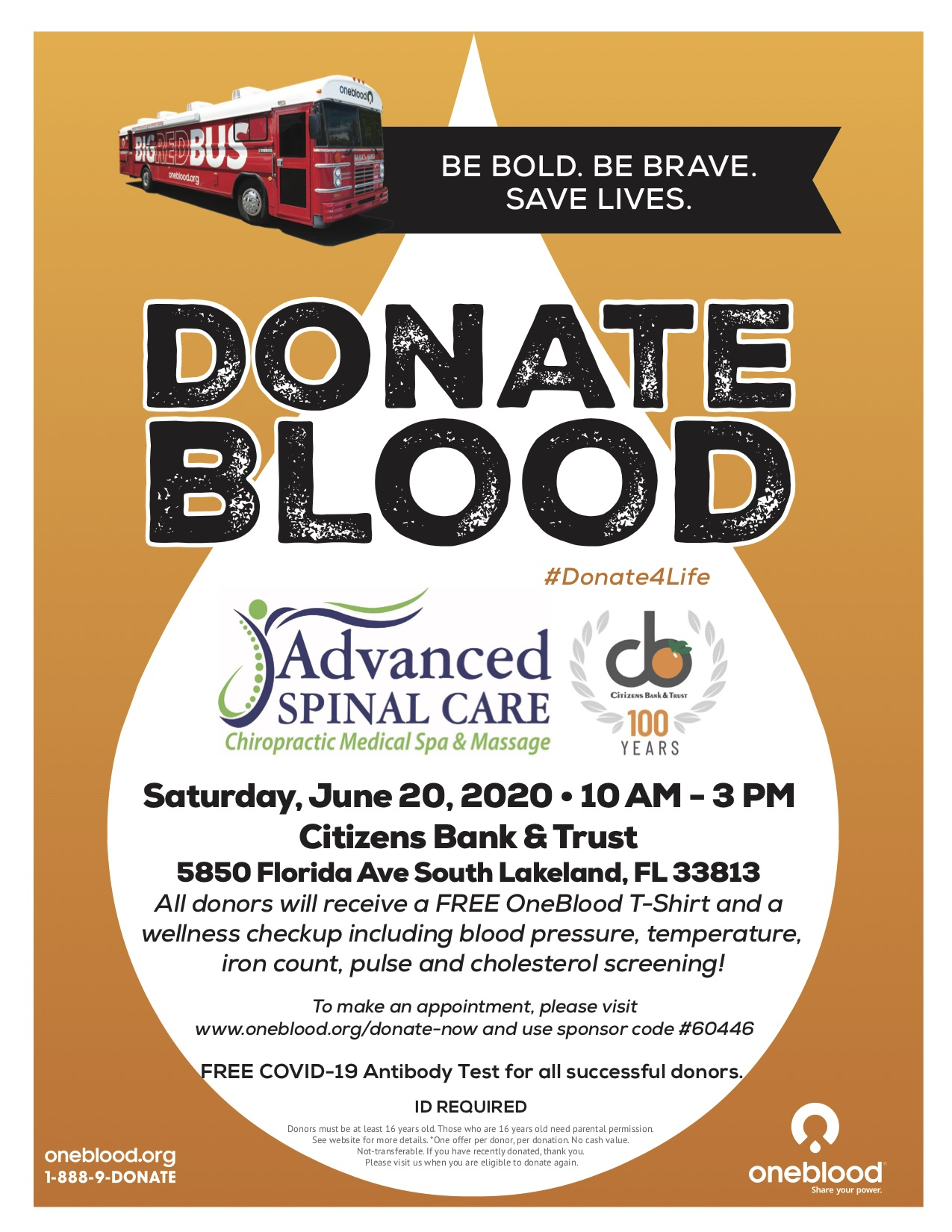 Donate Blood - Event Flyer